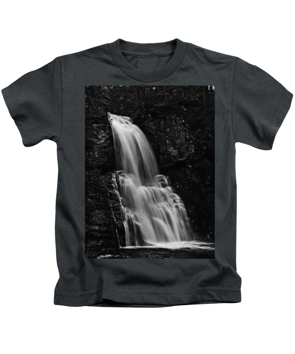 Water Falls Kids T-Shirt featuring the photograph Bushkill Falls by Louis Dallara