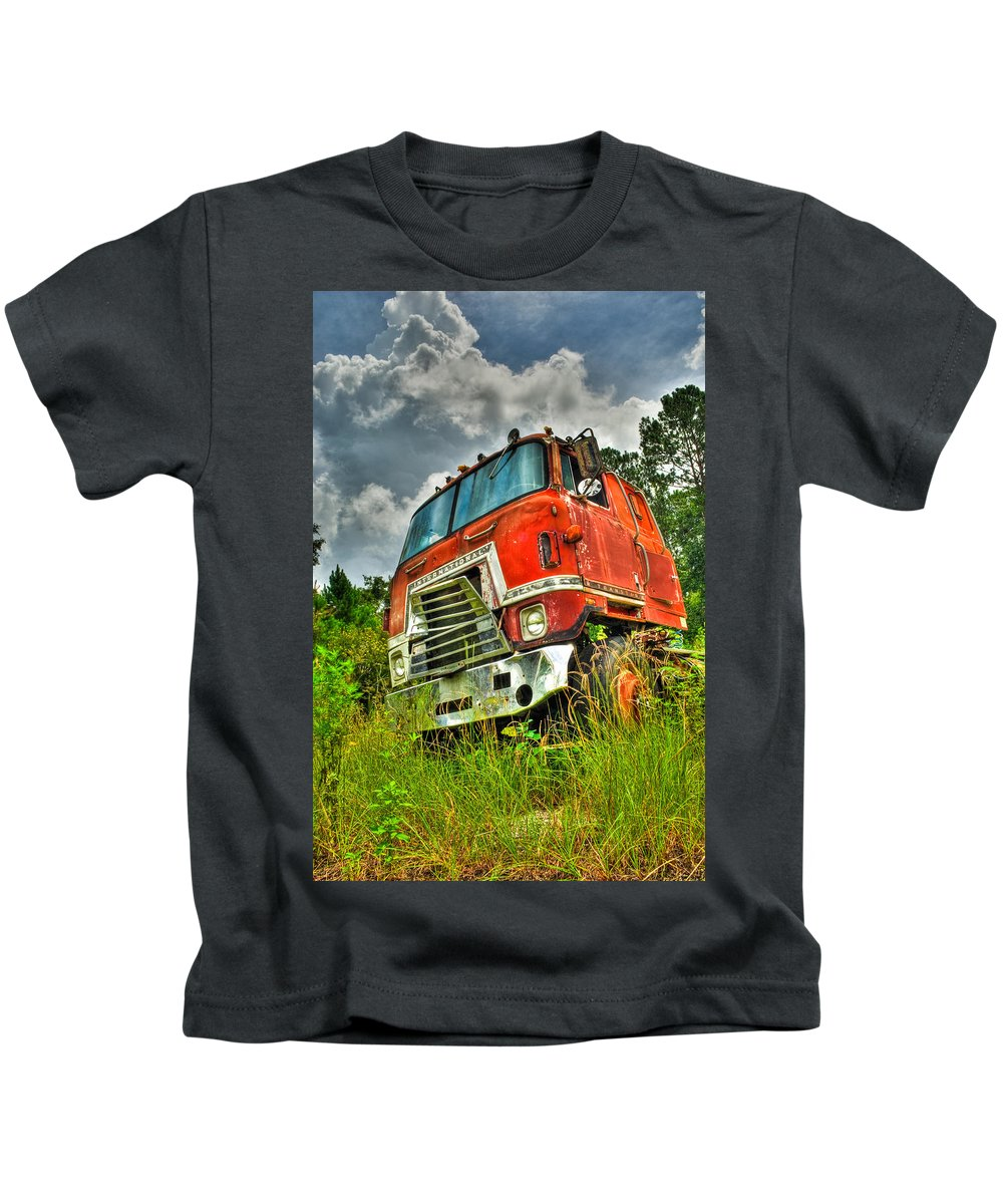 Truck Kids T-Shirt featuring the photograph Busted And Rusted by Rich Leighton
