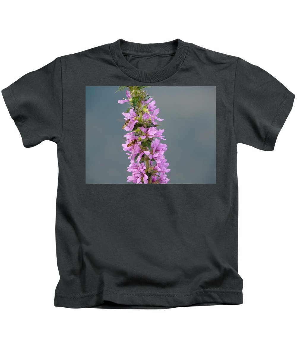 Flower Kids T-Shirt featuring the photograph Busy Flower by Valerie Ornstein