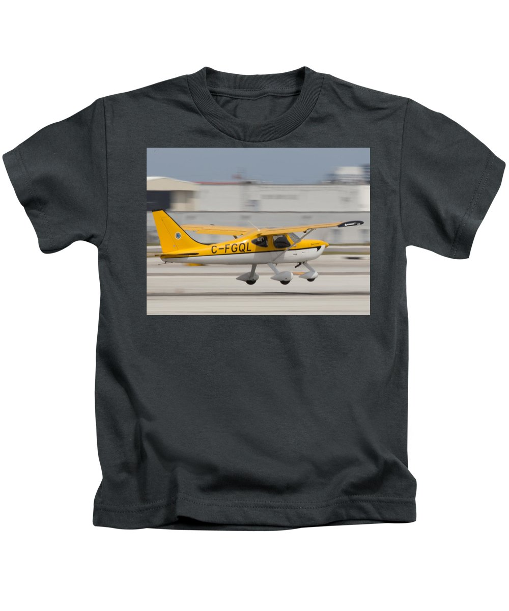 C-fgql Aircraft Kids T-Shirt featuring the photograph C-fgql Aircraft by Dart and Suze Humeston