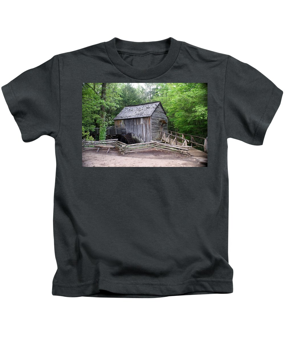 Cable Mill Kids T-Shirt featuring the photograph Cable Mill by Marty Koch