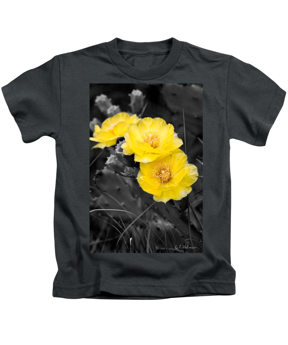 Cactus Kids T-Shirt featuring the photograph Cactus Blossom by Christopher Holmes