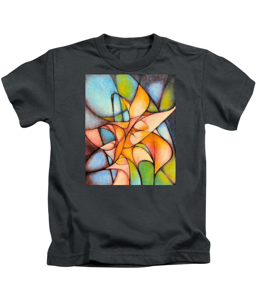 Contemporary Kids T-Shirt featuring the painting Calla Lillies by Kevin Lawrence Leveque
