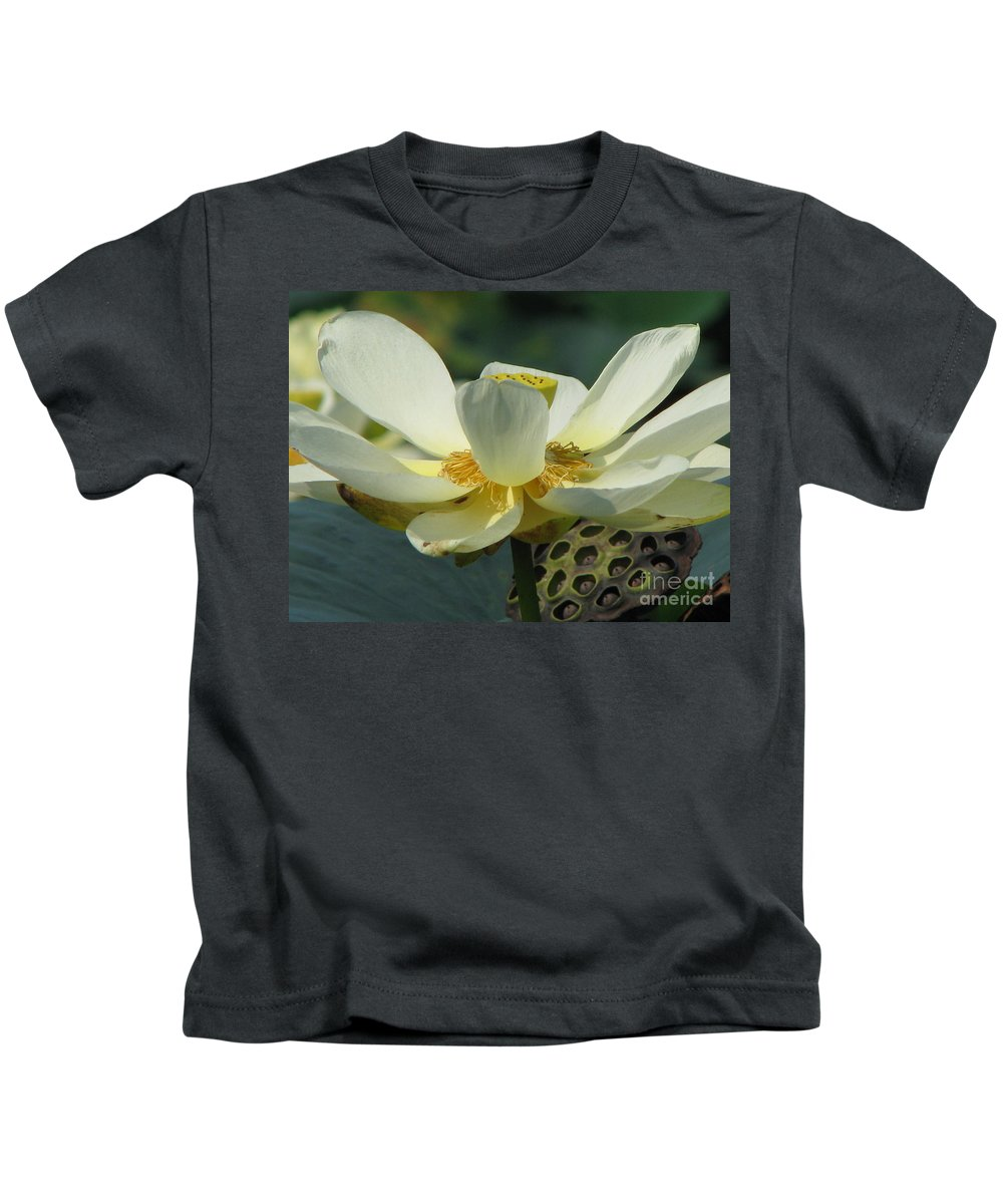 Lotus Kids T-Shirt featuring the photograph Calm by Amanda Barcon