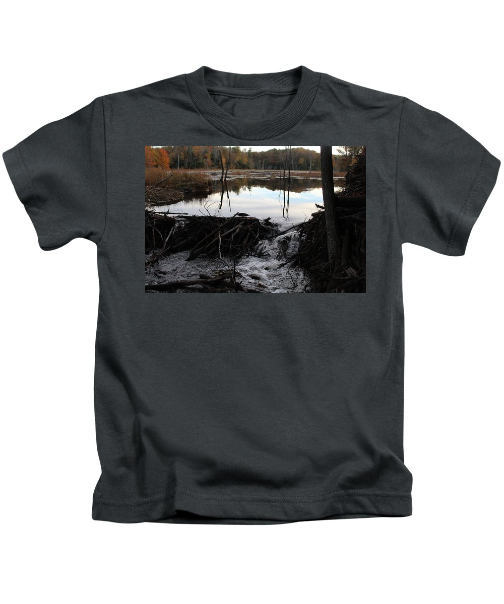 Water Kids T-Shirt featuring the photograph Calm Photo Of Water Flowing by Hunter Kotlinski