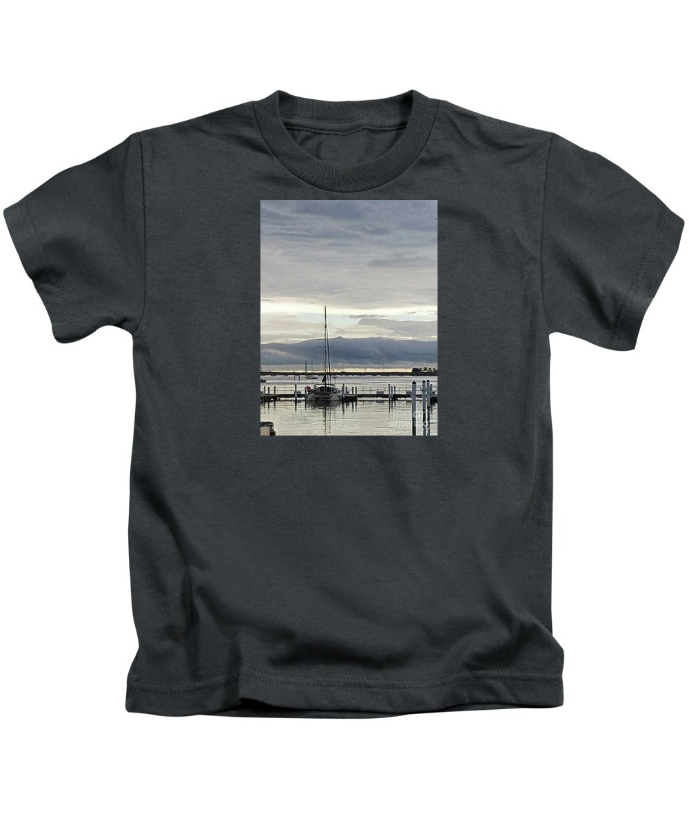 Cape Cod Kids T-Shirt featuring the photograph Calm by Sharon Eng