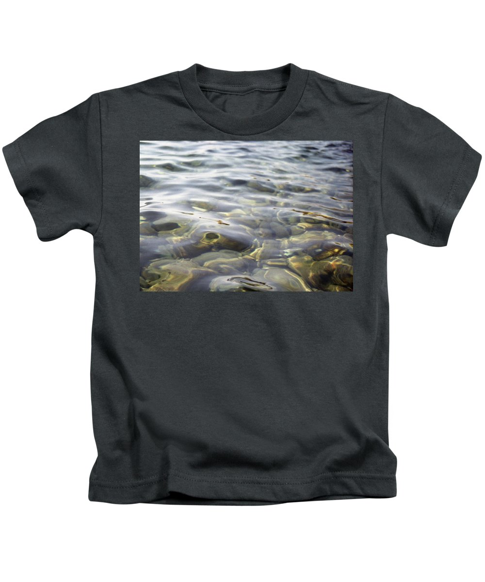 Film Photography Kids T-Shirt featuring the photograph Calm Waters by Anna Petropavlovskaya