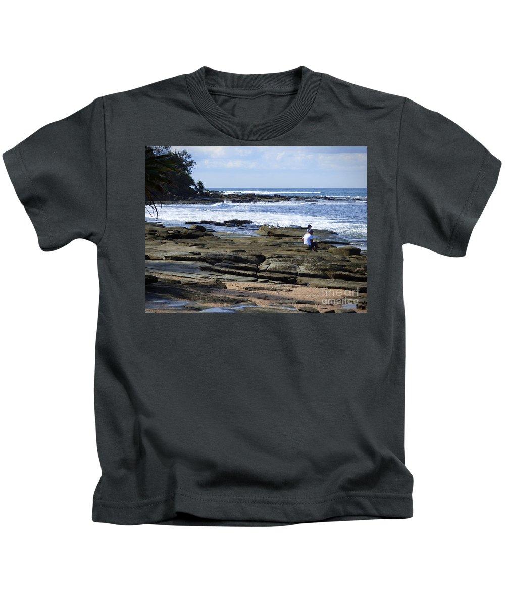 Caloundra Kids T-Shirt featuring the photograph Caloundra Coast. #1 by Trudee Hunter
