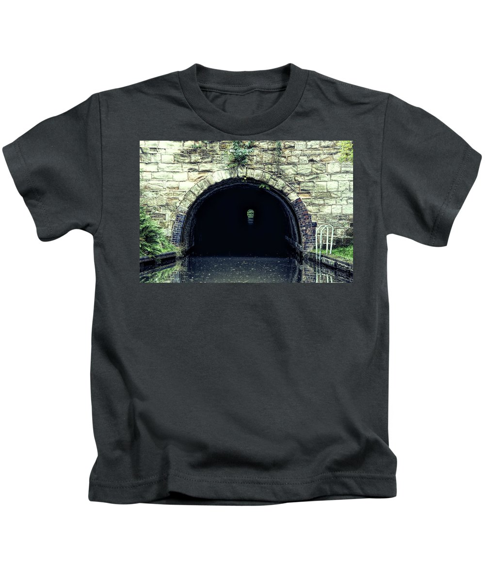 Tardebigge Kids T-Shirt featuring the photograph Canal Tunnel by Roy Pedersen