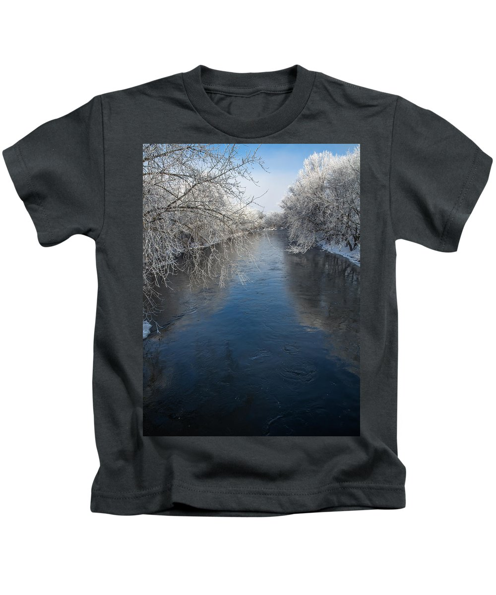 Cannon River Kids T-Shirt featuring the photograph Cannon Reflections by Donald Roos