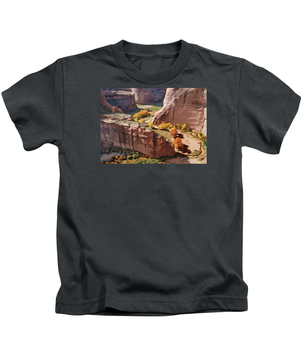 Southwest Usa Kids T-Shirt featuring the photograph Canyon De Chelly by Alan Toepfer