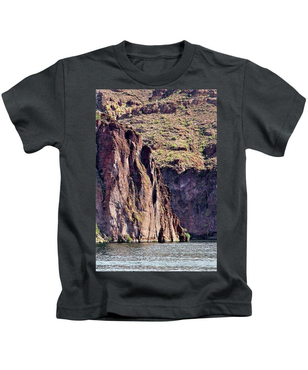 Canyon Kids T-Shirt featuring the photograph Canyon Lake by Phyllis Denton
