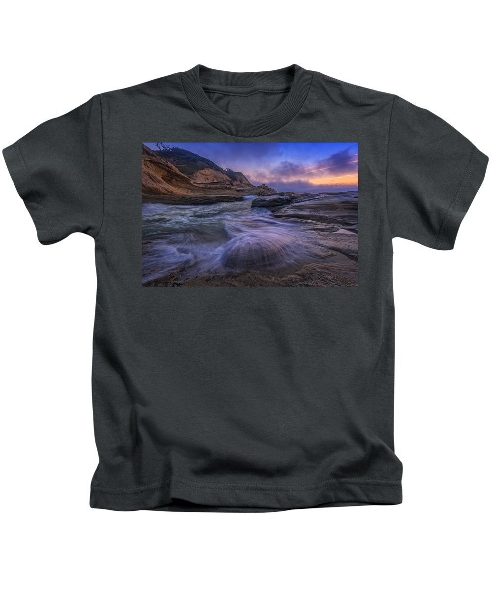 Three Cliffs Bay Kids T-Shirts