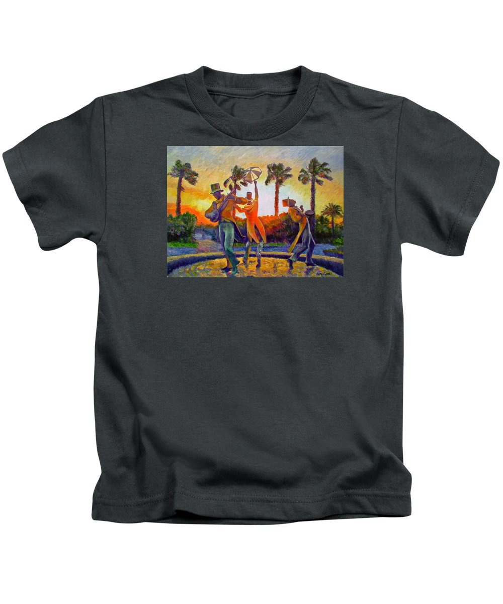 Sunset Kids T-Shirt featuring the painting Cape Minstrels by Michael Durst
