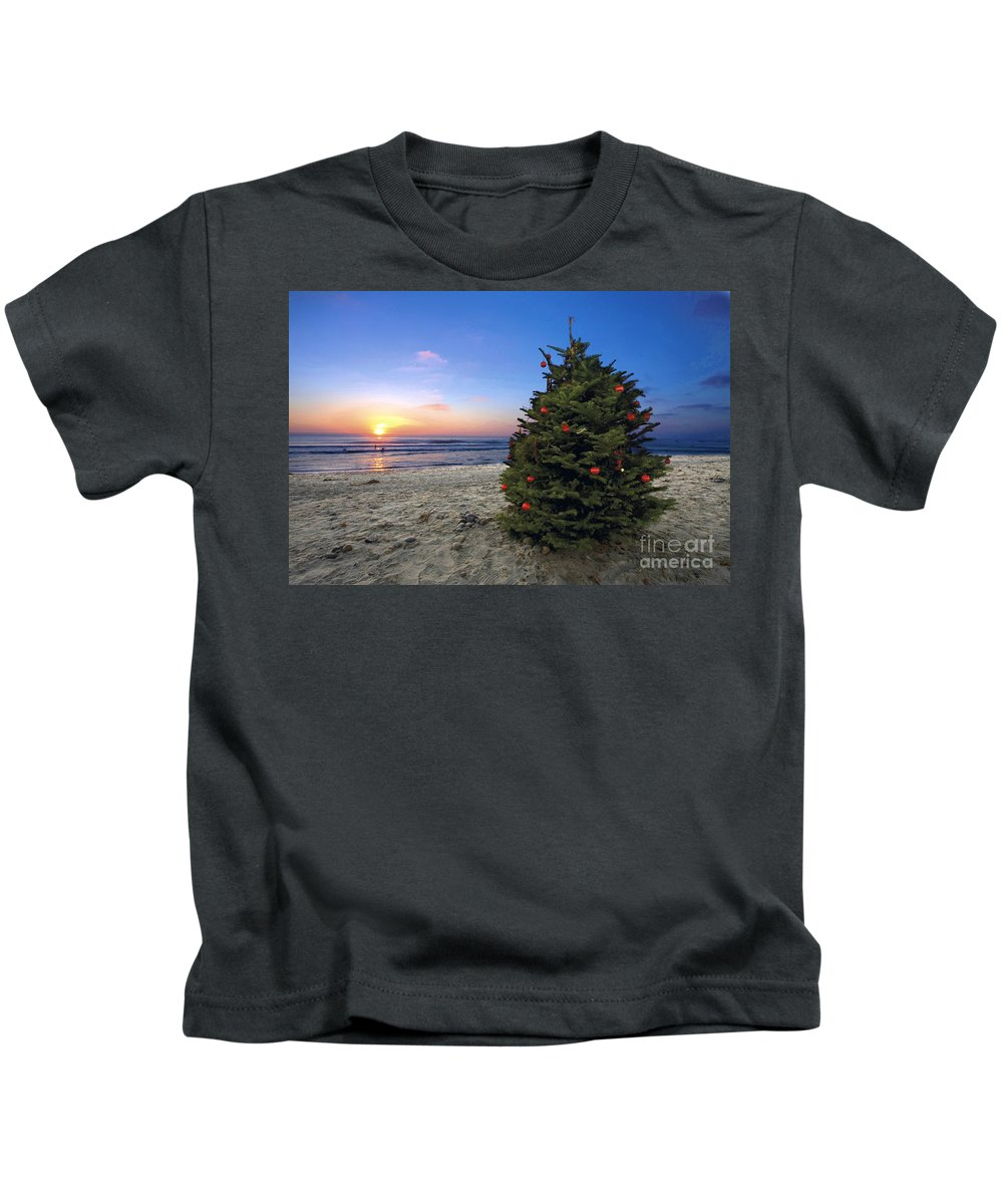 Christmas Kids T-Shirt featuring the photograph Cardiff Christmas Tree by Daniel Knighton