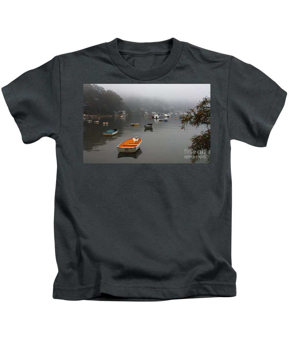 Mist Kids T-Shirt featuring the photograph Careel Bay Mist by Sheila Smart Fine Art Photography