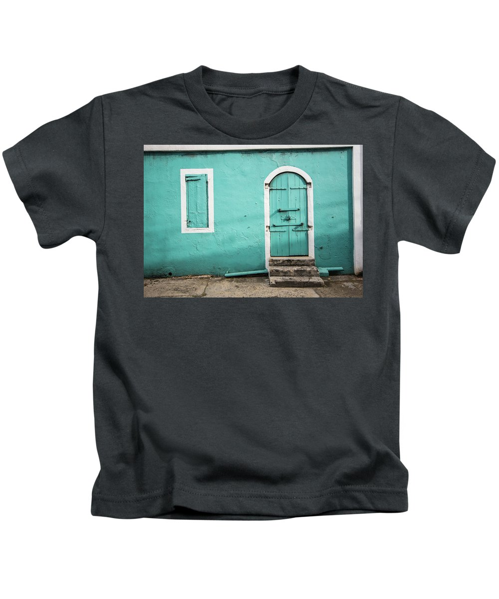Caribbean Kids T-Shirt featuring the photograph Caribbean Storefront by Rob Lantz