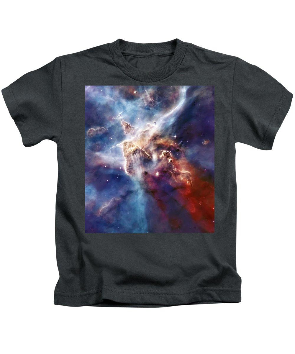 Nebula Kids T-Shirt featuring the photograph Carina Nebula Pillar by Jennifer Rondinelli Reilly - Fine Art Photography