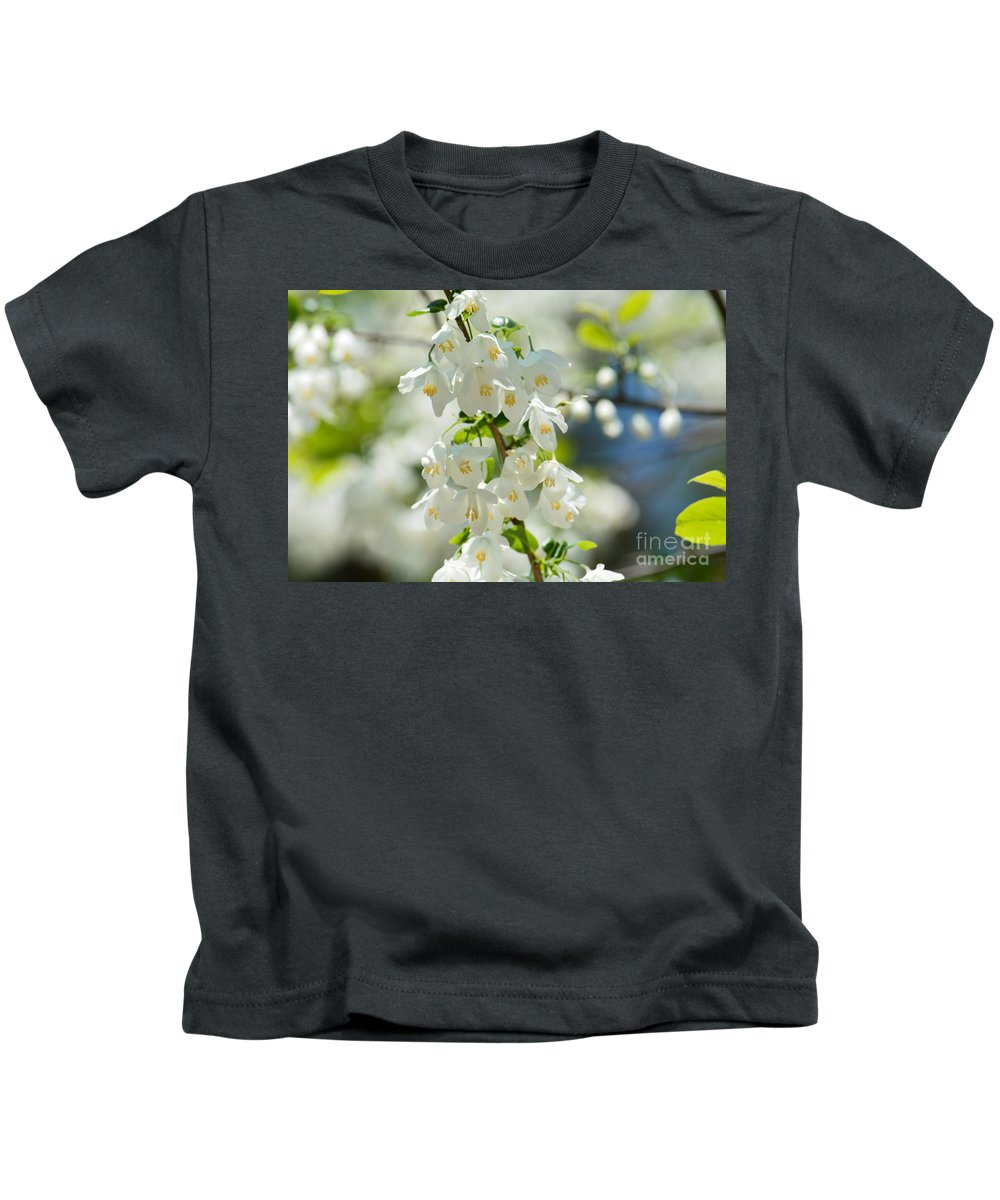 Carolina Silverbells In Spring Kids T-Shirt featuring the photograph Carolina Silverbells In Spring by Maria Urso