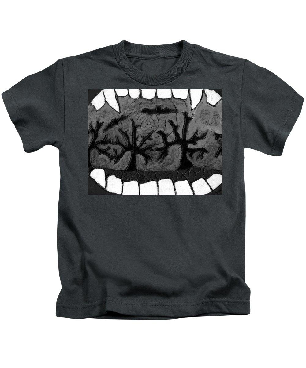 Scary Kids T-Shirt featuring the painting Carols Vampire by Wayne Potrafka