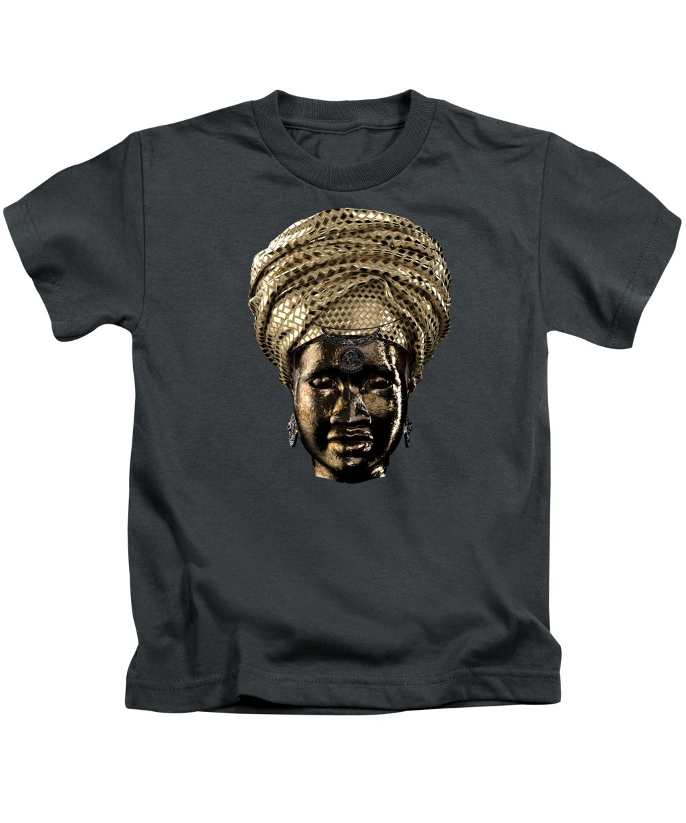 Africa Kids T-Shirt featuring the painting Cast In Character 2013 - Front Transparent by Omolara