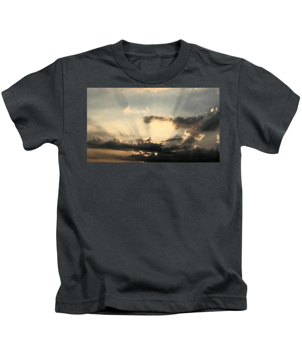 Caught At Sunrise Kids T-Shirt featuring the photograph Caught At Sunrise by Maria Urso