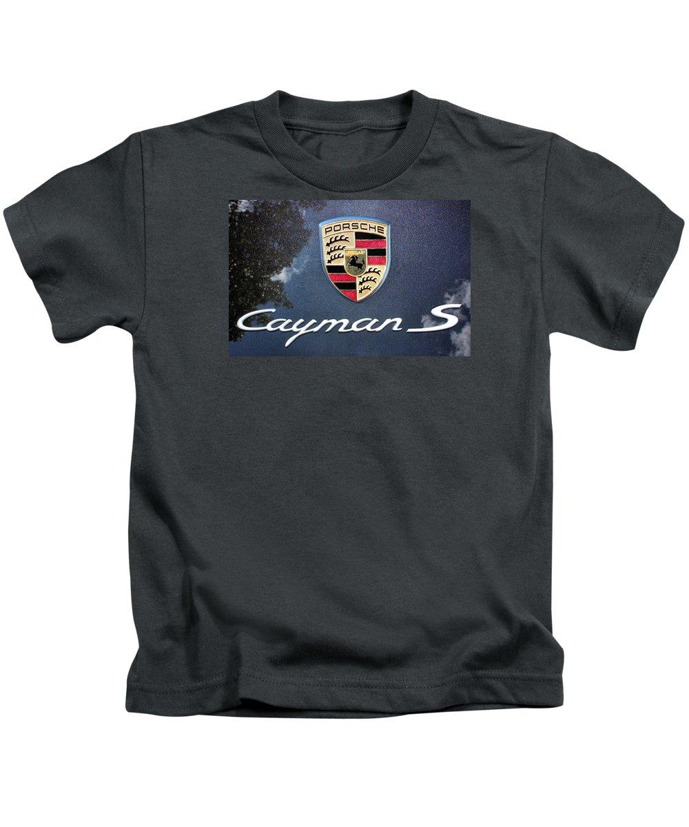 Porsche Kids T-Shirt featuring the photograph Cayman S by Kristin Elmquist