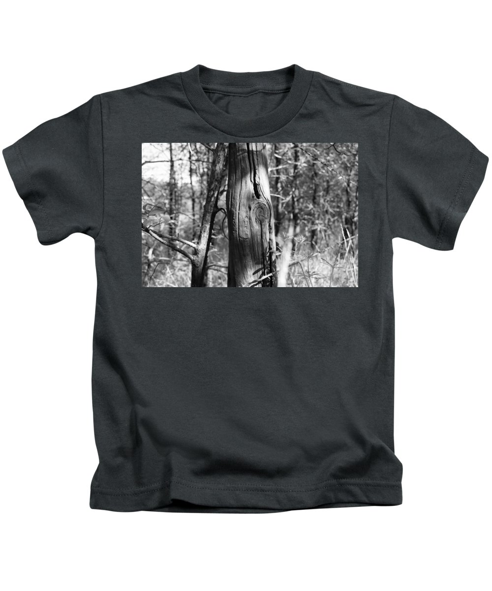 Old Fence Kids T-Shirt featuring the photograph Cedar Fence Post by WD Stalcup