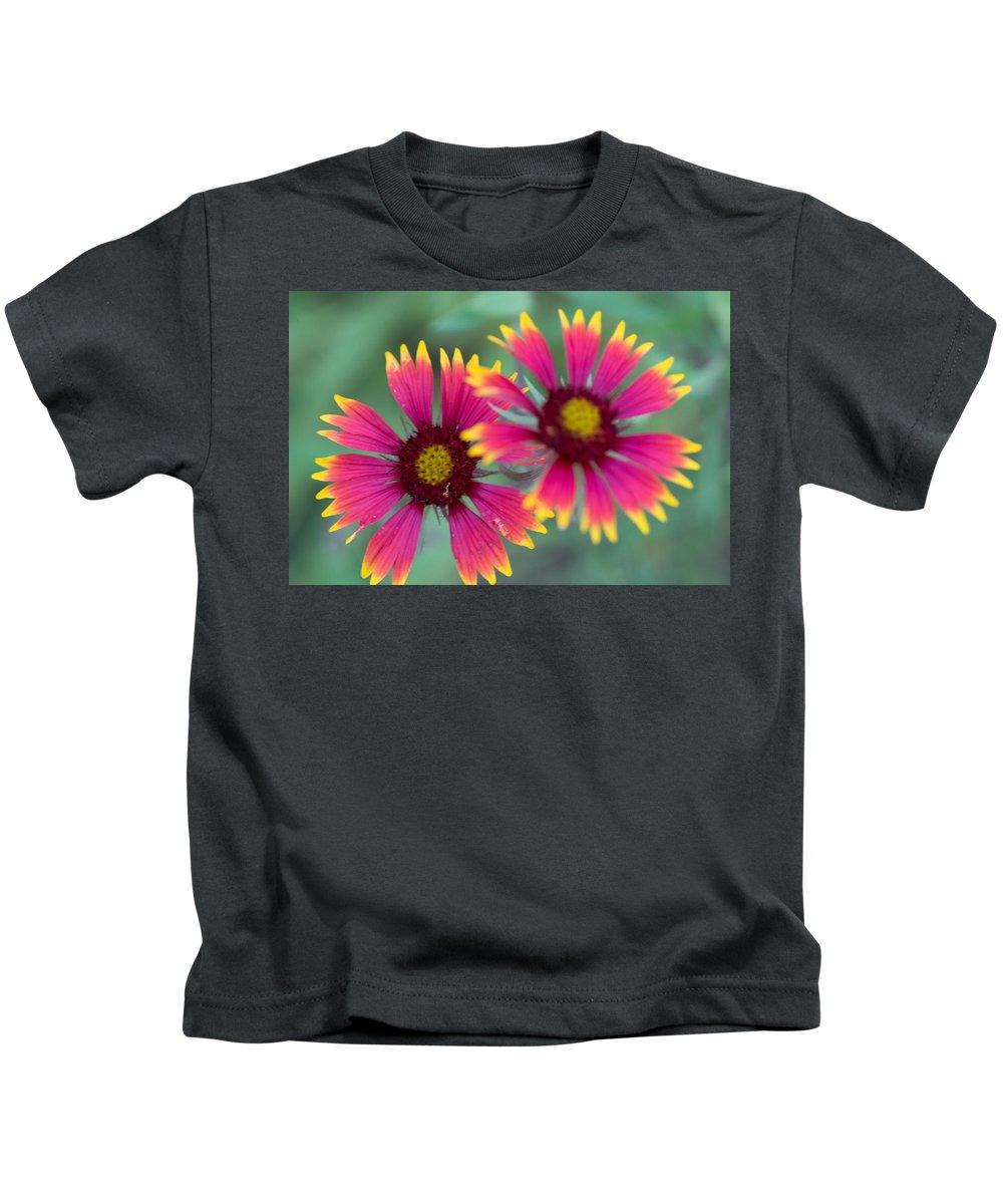 Cedar Park Kids T-Shirt featuring the photograph Cedar Park Texas Indian Blanket by JG Thompson