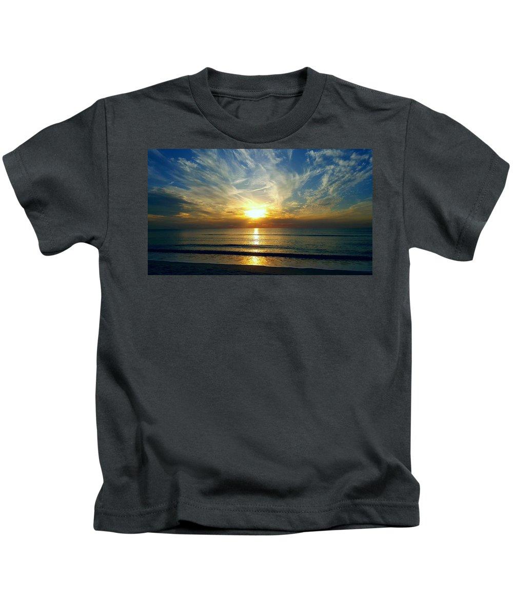#good #soul #sunset #sunsetlovers #naturelovers #wondershots #earthpix #nature_perfection #webstagram #igdaily #cloudporn #skyporn #instalove #awesomeearth #bestoftheday #worldshotz #nature #beachesandnature #naples #beautiful #beauty #runner #fitfam #wanderlust #beach #cloudstagram #motivation #fitness #fresh #landscape #beachesandnature #positive #positivevibes #lovely #share #shine #bright Kids T-Shirt featuring the photograph Celebrate by Chris Rich