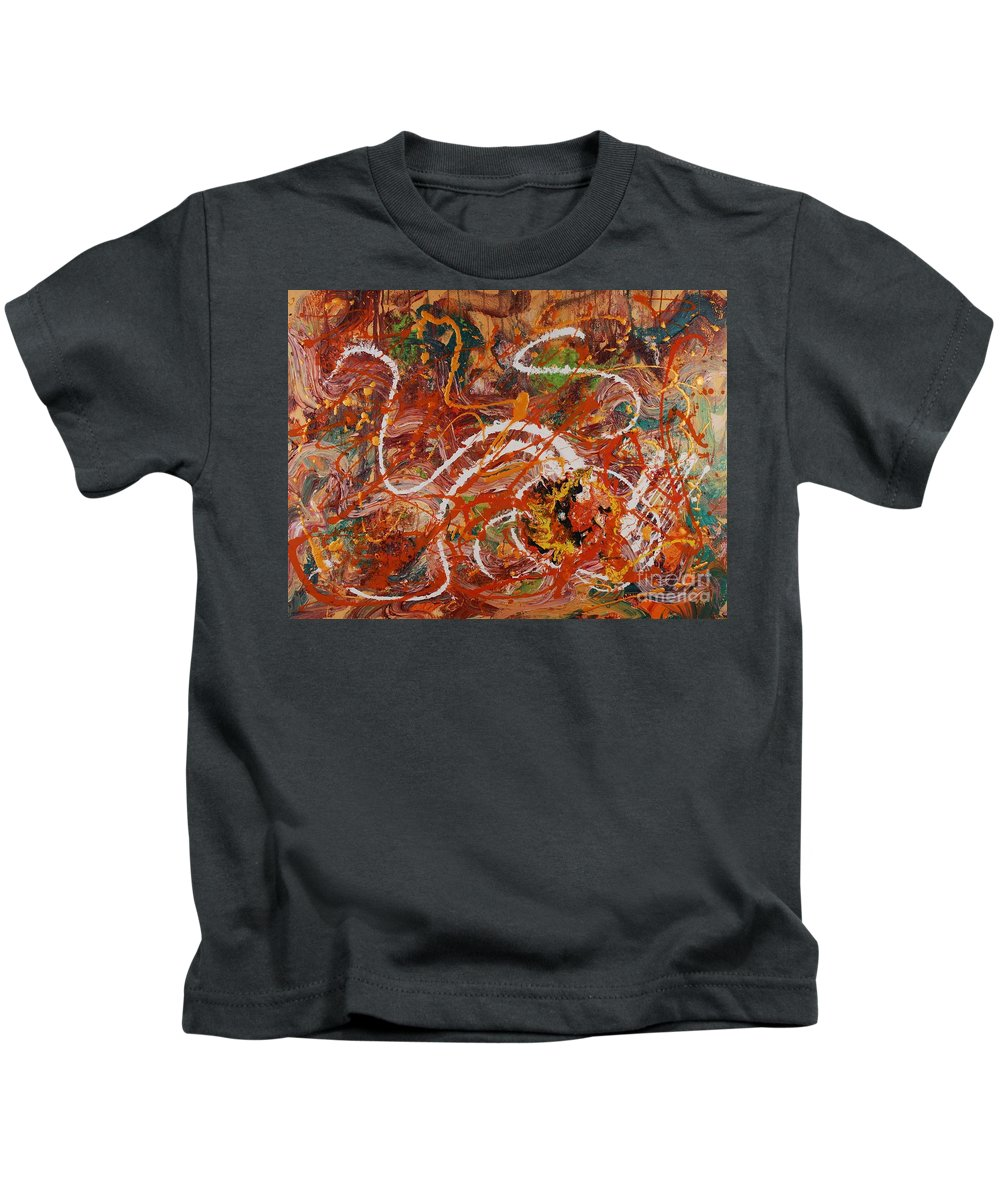 Orange Kids T-Shirt featuring the painting Celebration II by Nadine Rippelmeyer