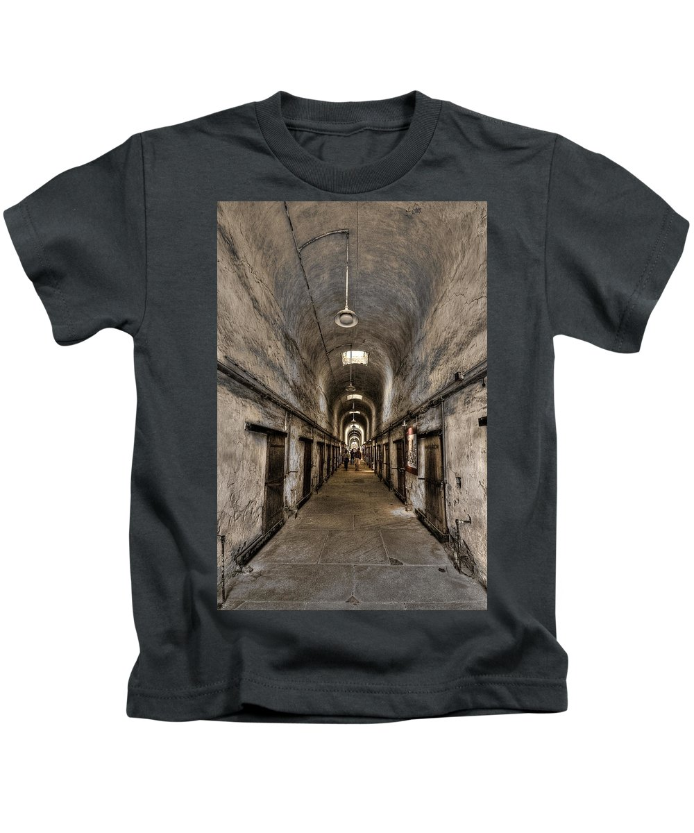 Abandoned Kids T-Shirt featuring the photograph Cell Block by Evelina Kremsdorf