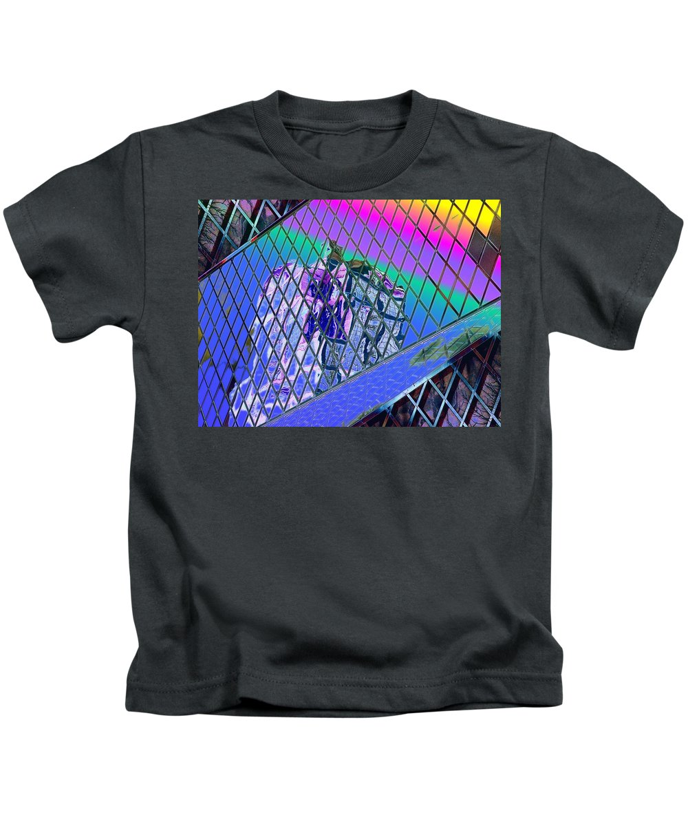 Seattle Kids T-Shirt featuring the digital art Central Library Seattle 3 by Tim Allen