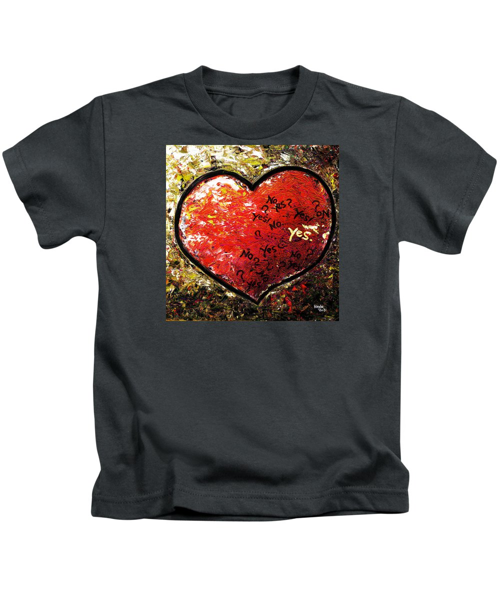 Pop Kids T-Shirt featuring the painting Chaos in Heart by Hiroko Sakai