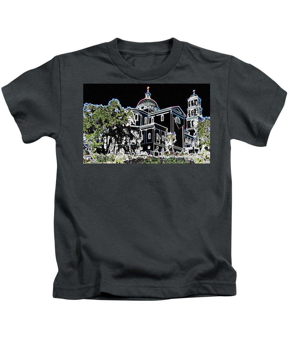 Church Kids T-Shirt featuring the photograph Chapel Aquinas by Michael Moore