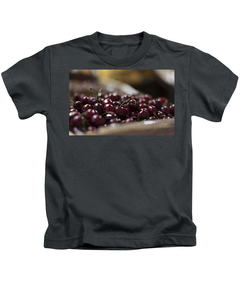 Cherry Kids T-Shirt featuring the digital art Cherry by Dorothy Binder