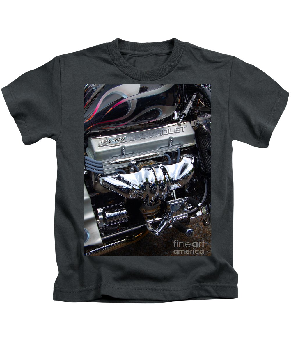 Diane Berry Kids T-Shirt featuring the photograph Chevrolet 400 Hp by Diane E Berry