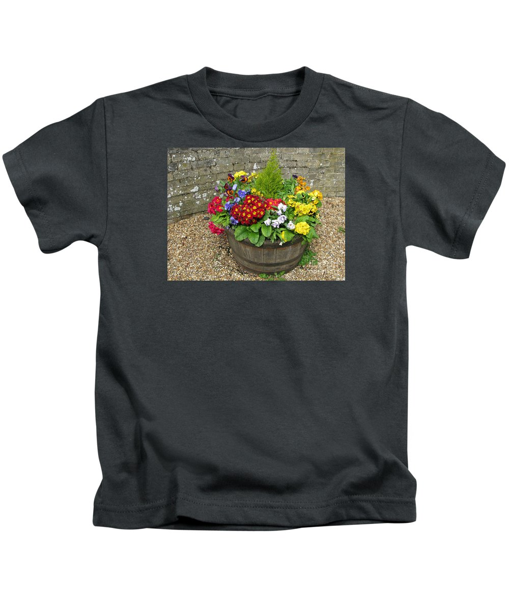 Flowers Kids T-Shirt featuring the photograph Chock Full Of Color by Ann Horn