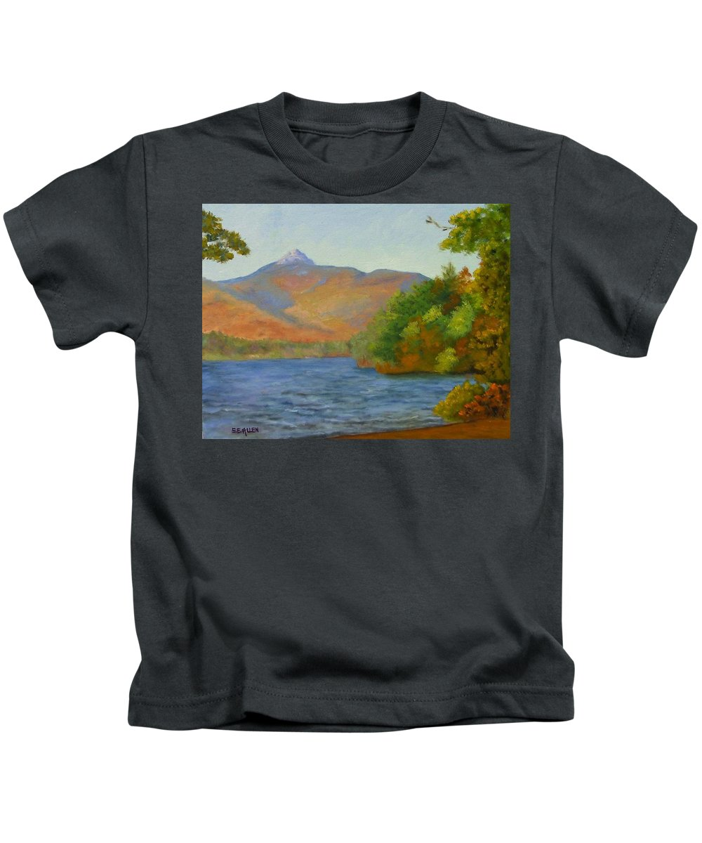 Mount Chocorua And Chocorua Lake Kids T-Shirt featuring the painting Chocorua by Sharon E Allen