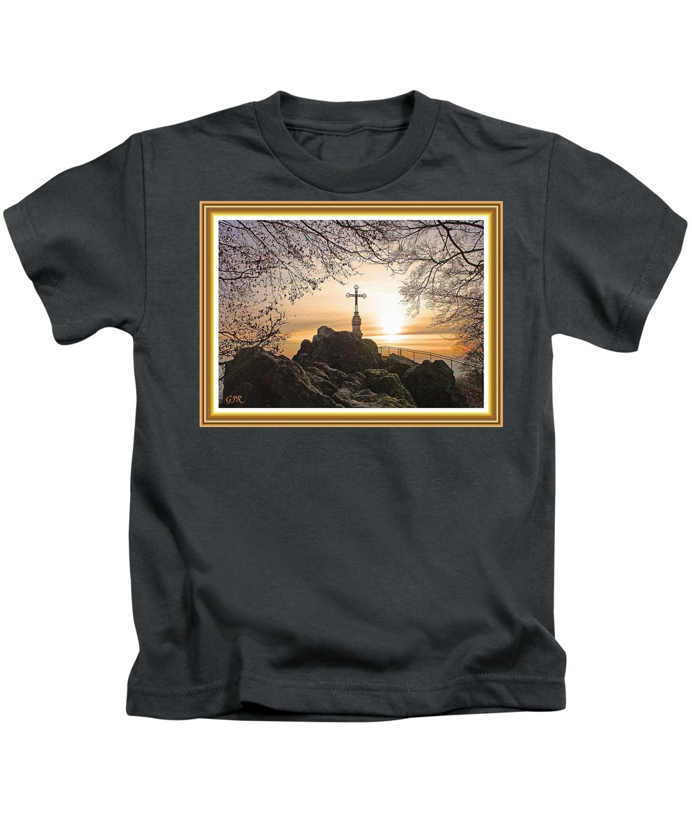 Sea Kids T-Shirt featuring the digital art Christellerata L A S With Decorative Ornate Printed Frame. by Gert J Rheeders