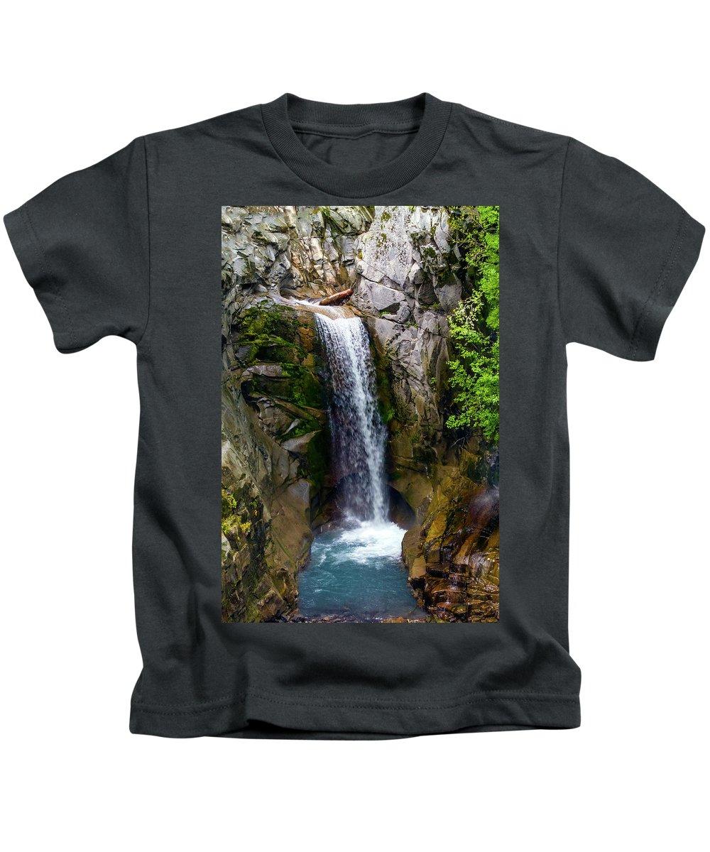 Christine Falls Kids T-Shirt featuring the photograph Christine Falls Mt Rainier by Greg Reed