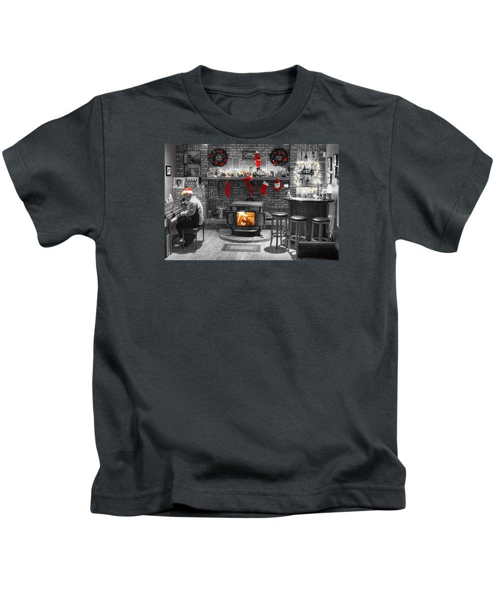 Christmas Kids T-Shirt featuring the photograph Christmas Eve Magic by James BO Insogna