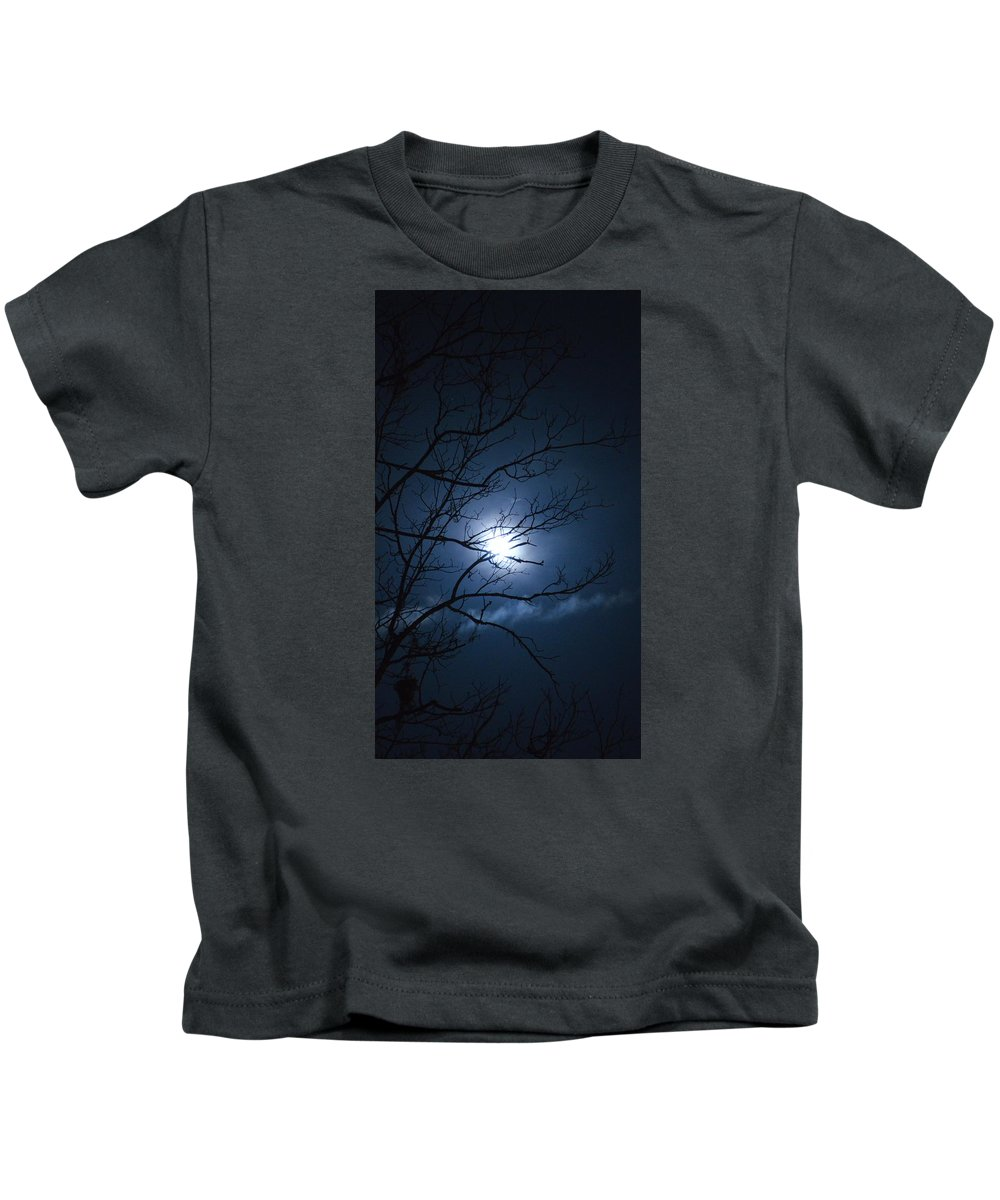 Christmas Kids T-Shirt featuring the photograph Christmas Eve Night by Linda Covino