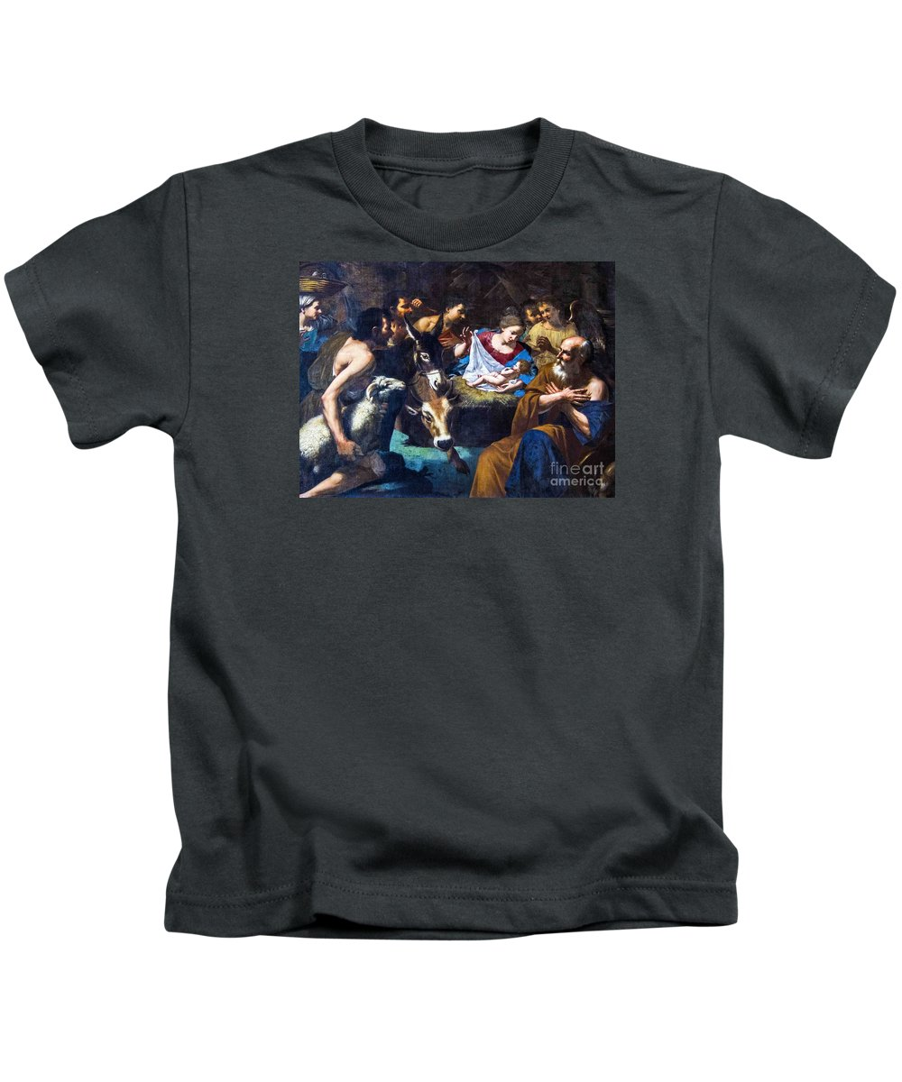 Christmas Kids T-Shirt featuring the photograph Christmas With The Shepherds by Roberta Bragan