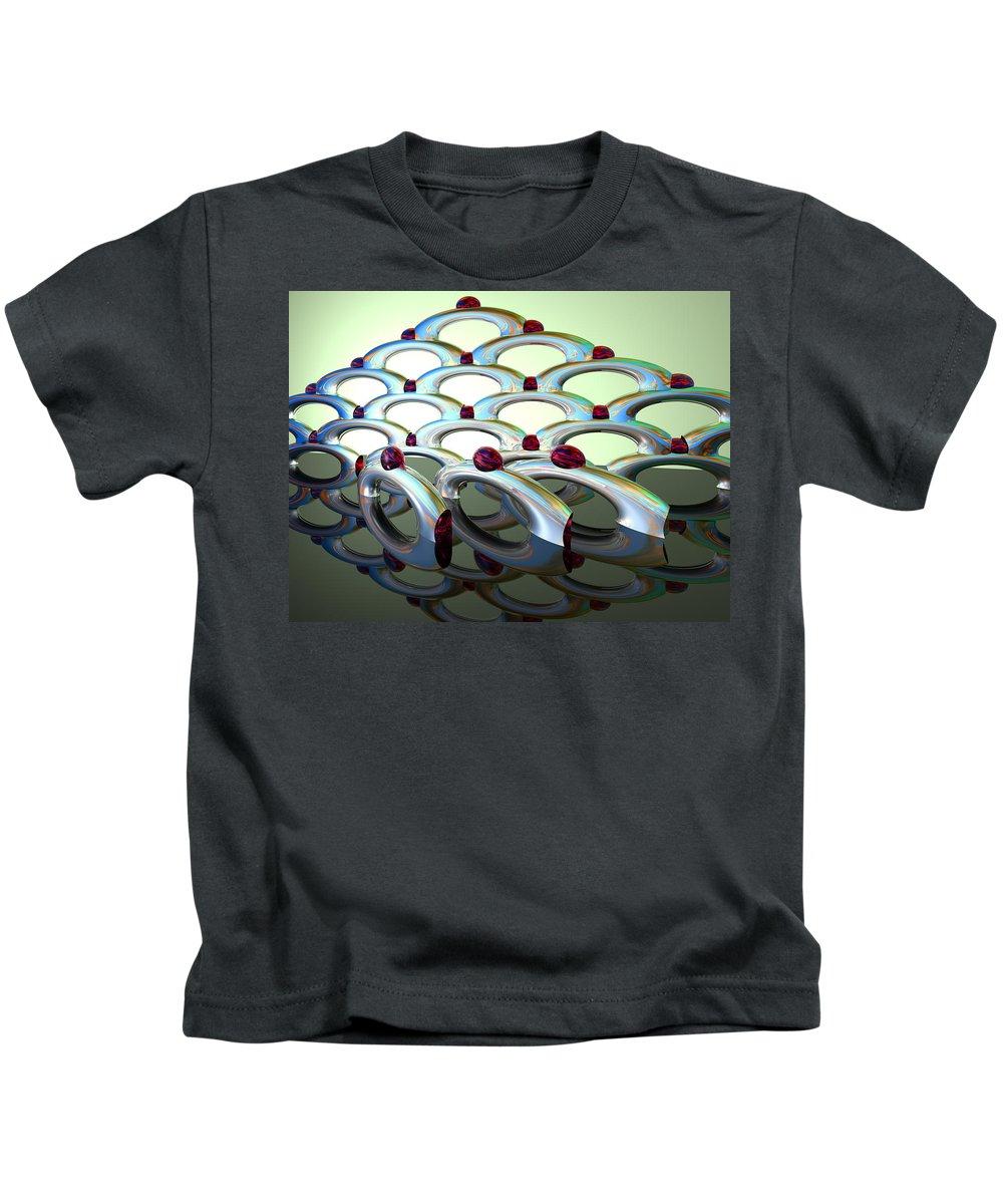 Scott Piers Kids T-Shirt featuring the painting Chrome Sundae by Scott Piers
