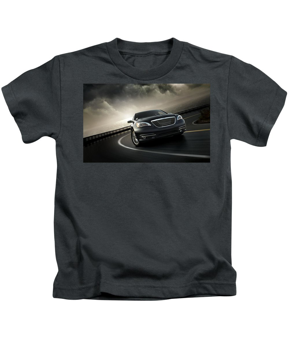 Chrysler 200 Kids T-Shirt featuring the digital art Chrysler 200 by Dorothy Binder