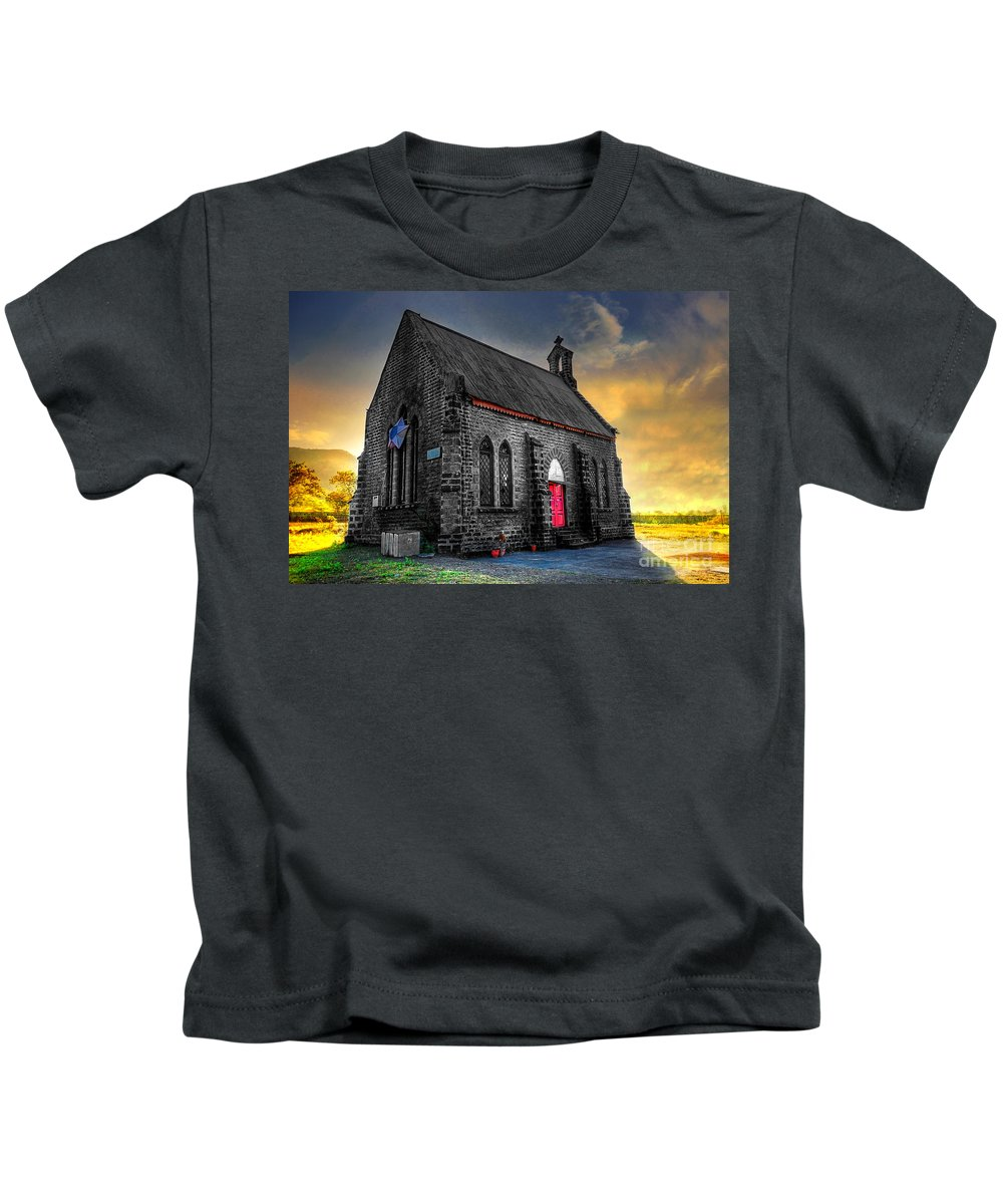 Architecture Kids T-Shirt featuring the photograph Church by Charuhas Images