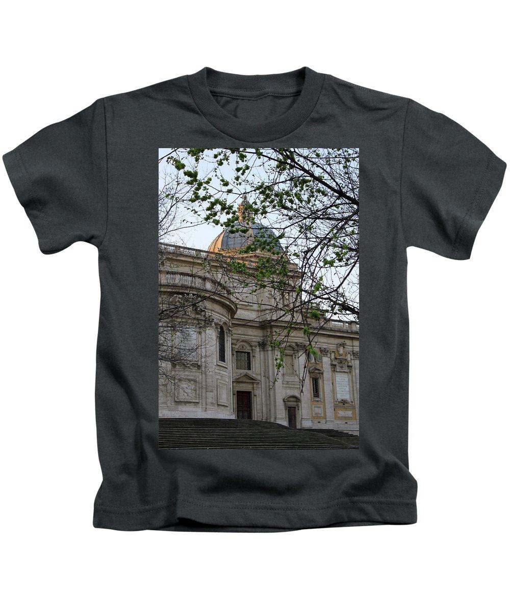 Rome Kids T-Shirt featuring the photograph Church In Rome by Munir Alawi