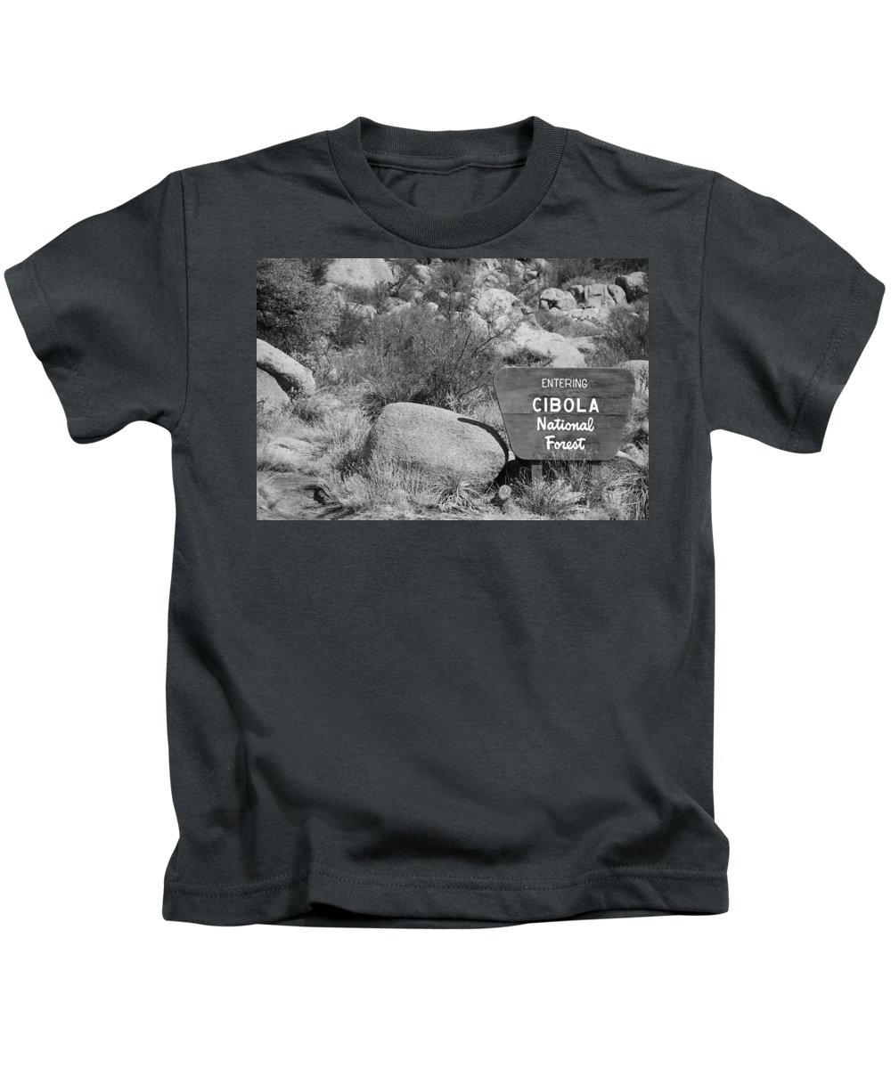 Black And White Kids T-Shirt featuring the photograph Cibola National Forest by Rob Hans