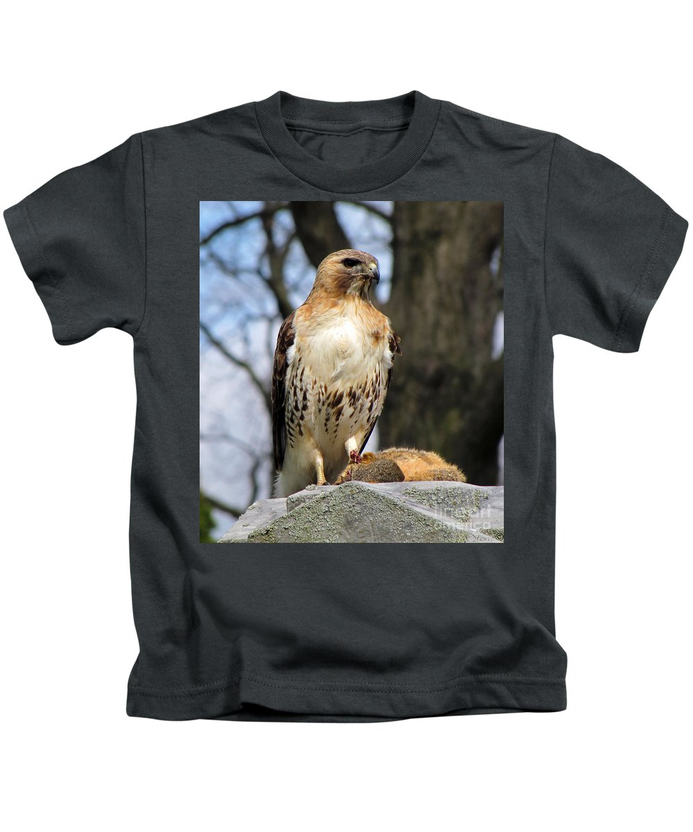 Hawk Kids T-Shirt featuring the photograph Circle Of Life by September Stone